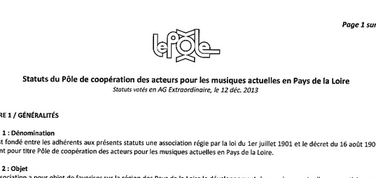 Les Statuts De L Association Le Pole
